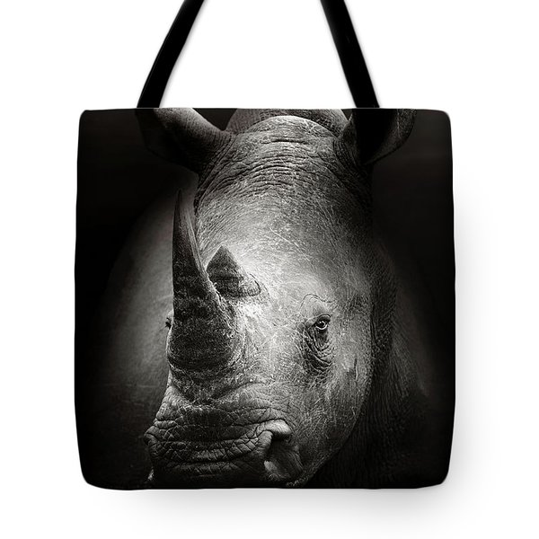 Rhinoceros Portrait Tote Bag