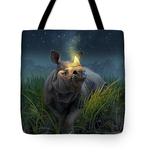 Rhinoceros Unicornis Tote Bag