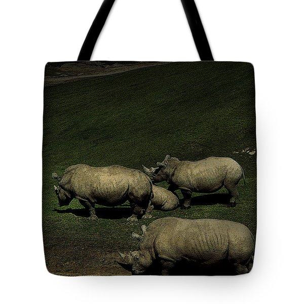 Rhinos Tote Bag
