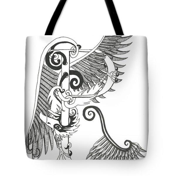 Rho Eagle Tote Bag by Melinda Dare Benfield