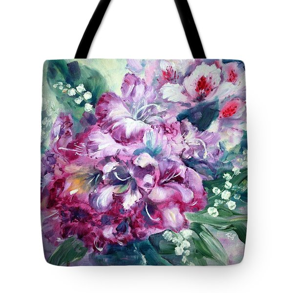 Rhododendron And Lily Of The Valley Tote Bag