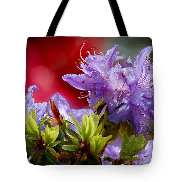 Rhododendron Bluebird Tote Bag