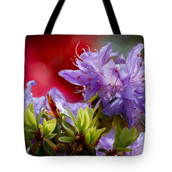 Rhododendron Bluebird Tote Bag