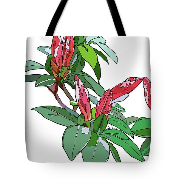Rhododendron Buds Tote Bag by Jamie Downs