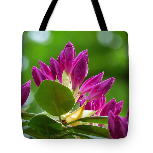 Rhododendron Buds Tote Bag by MTBobbins Photography