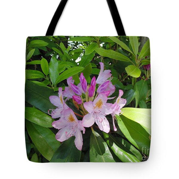 Rhododendron Tote Bag by Daun Soden-Greene