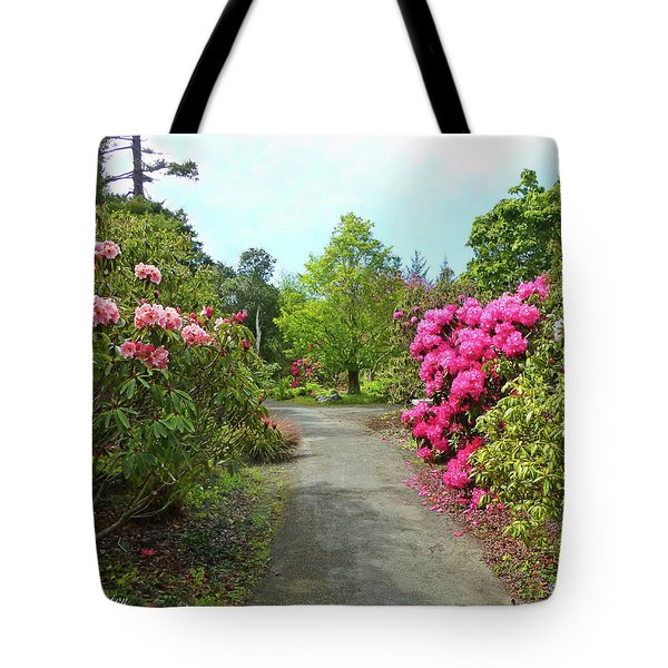 Rhododendron Gardens Tote Bag
