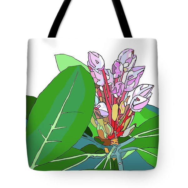 Rhododendron Graphic Tote Bag by Jamie Downs