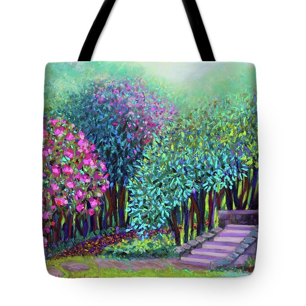 Rhododendrons In The Sunken Garden Tote Bag