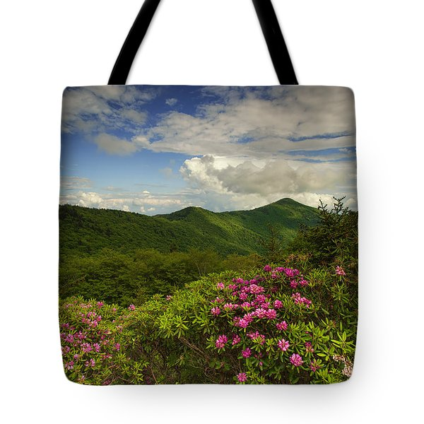 Rhododendrons On The Blue Ridge Parkway Tote Bag