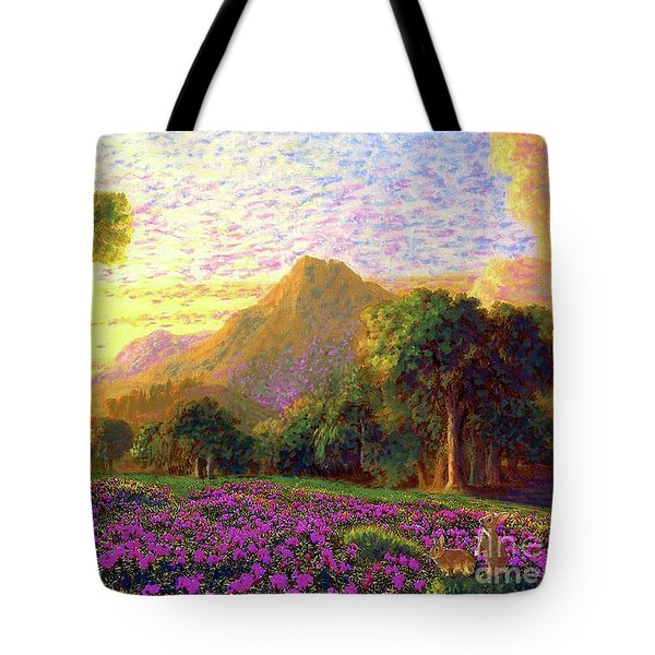 Rhododendrons, Rabbits And Radiant Memories Tote Bag