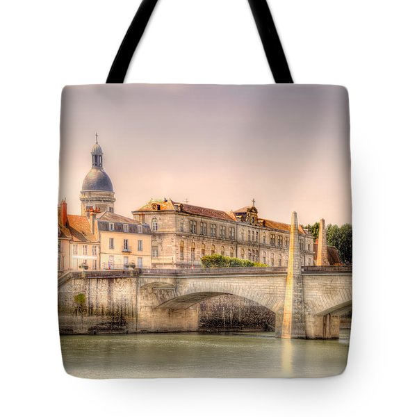 Bridge Over The Rhone River, France Tote Bag