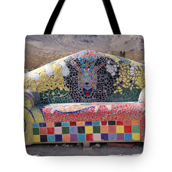 Tote Bag featuring the photograph Rhyolite Sofa by Walter Chamberlain