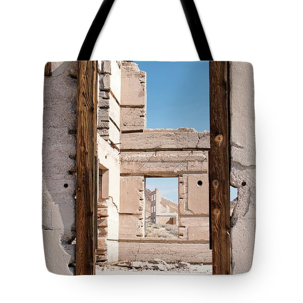 Rhyolite Through Windows Tote Bag