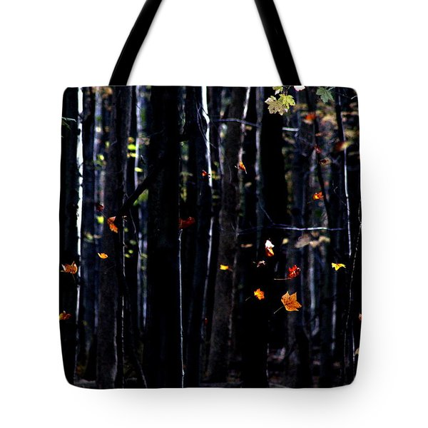 Rhythm Of Leaves Falling Tote Bag by Bruce Patrick Smith