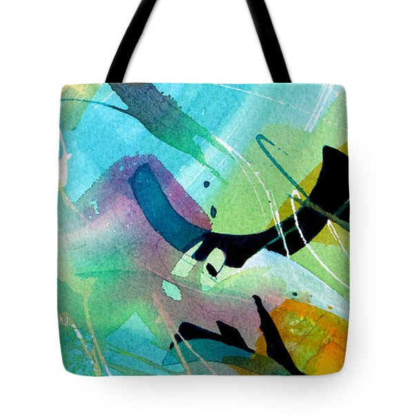 Tote Bag featuring the painting Rhythm Of The Blues by Rae Andrews