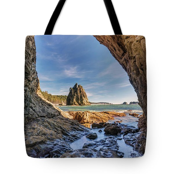 Rialto Beach Sea Arch Tote Bag