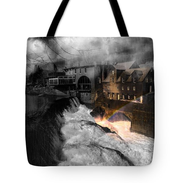 Rainbow In The Mist Tote Bag by Sherman Perry