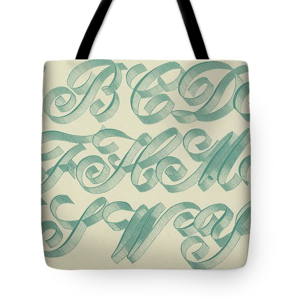 Riband Letter Tote Bag