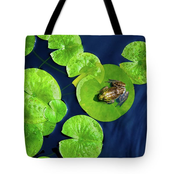 Tote Bag featuring the photograph Ribbit by Greg Fortier