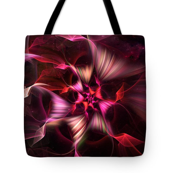 Ribbon Candy Rose Tote Bag