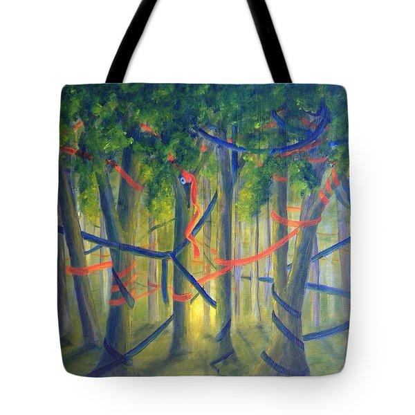 Ribbon Dance Tote Bag
