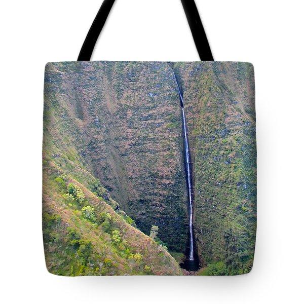 Ribbon Falls On The Napali Coast Tote Bag