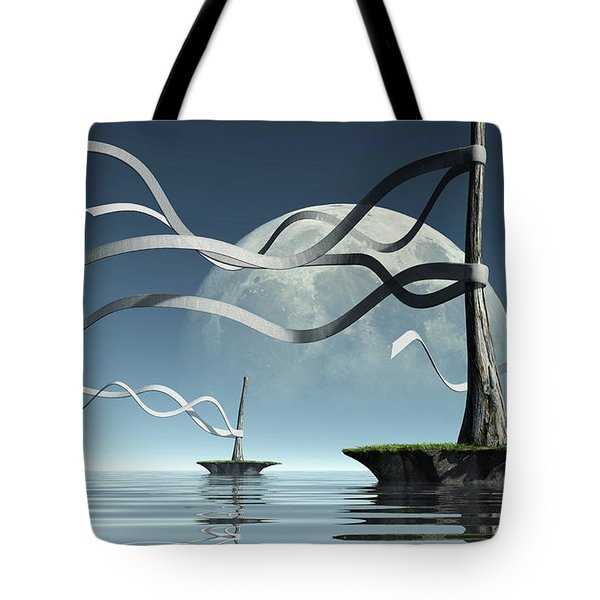 Ribbon Island Tote Bag