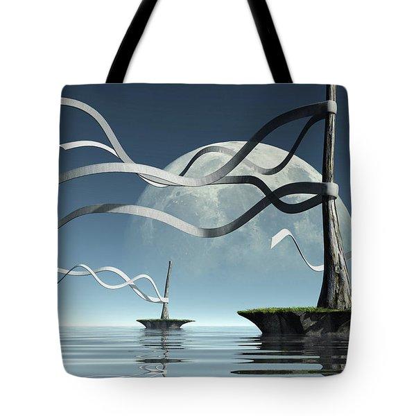 Ribbon Island Tote Bag
