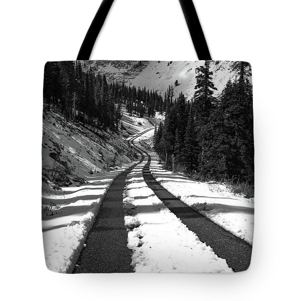 Ribbon To The Unknown Monochrome Art By Kaylyn Franks Tote Bag