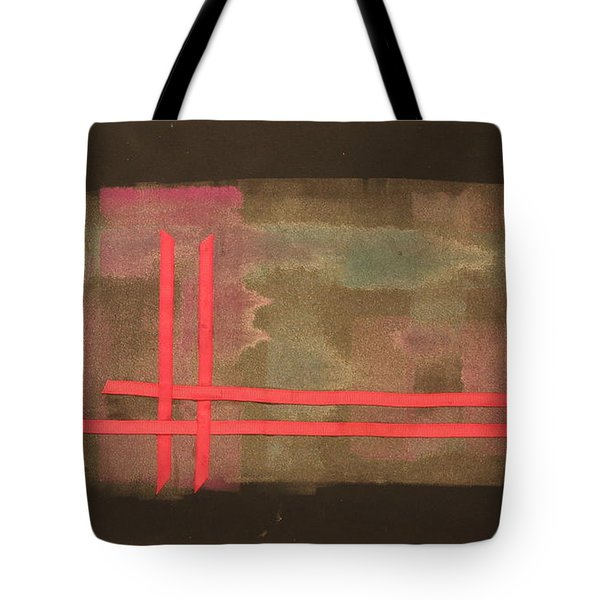 Tote Bag featuring the mixed media Ribbons by Erika Chamberlin