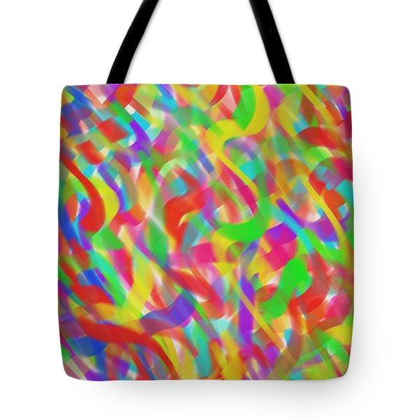 Ribbons Tote Bag by Kevin Caudill