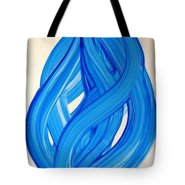 Ribbons Of Love-blue Tote Bag