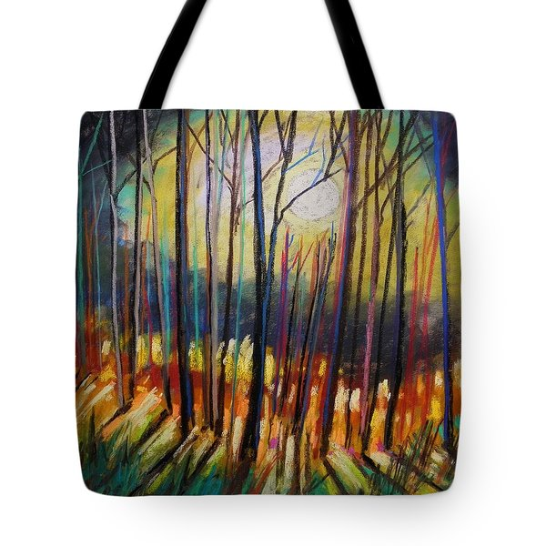 Tote Bag featuring the painting Ribbons Of Moonlight by John Williams
