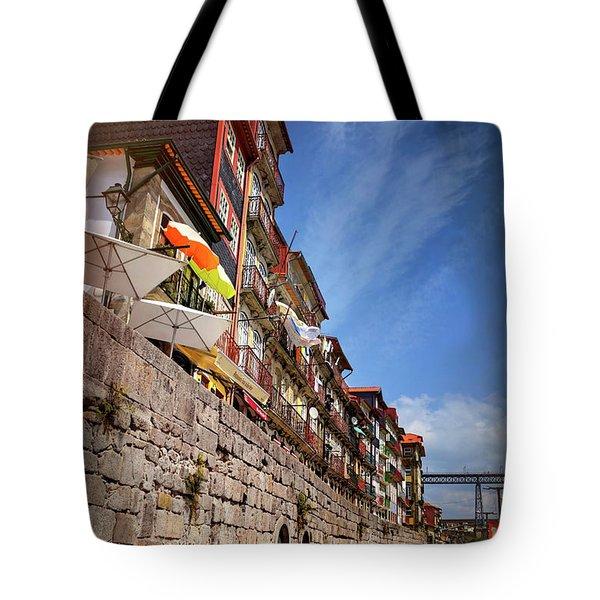 Ribeira District Of Porto Portugal  Tote Bag