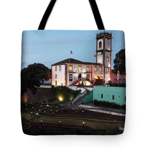 Ribeira Grande Town Hall Tote Bag by Gaspar Avila