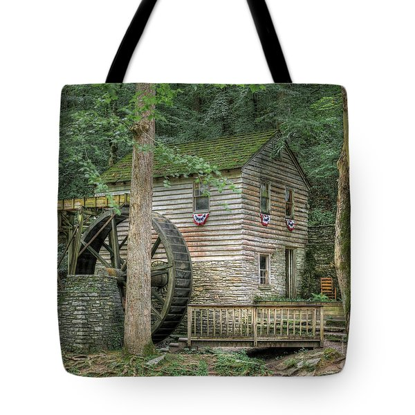Tote Bag featuring the photograph Rice Grist Mill 2017 by Douglas Stucky