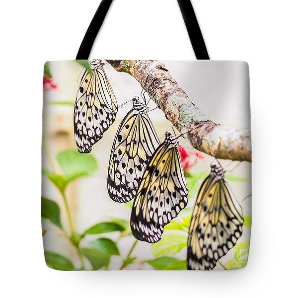 Rice Paper Butterflies Tote Bag