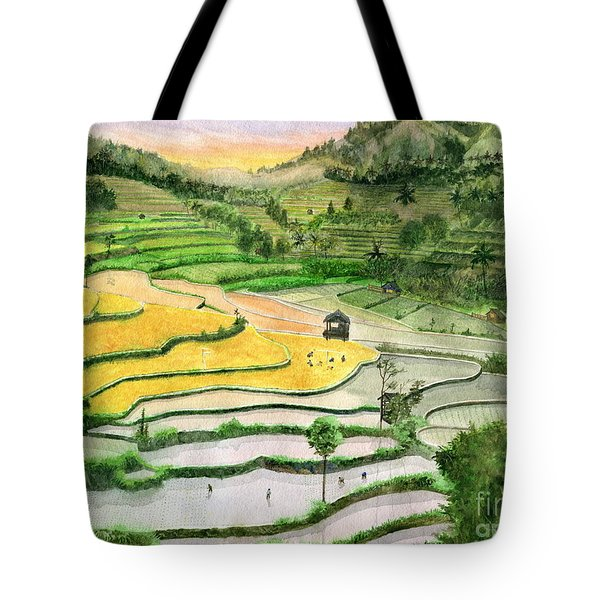 Ricefield Terrace II Tote Bag by Melly Terpening