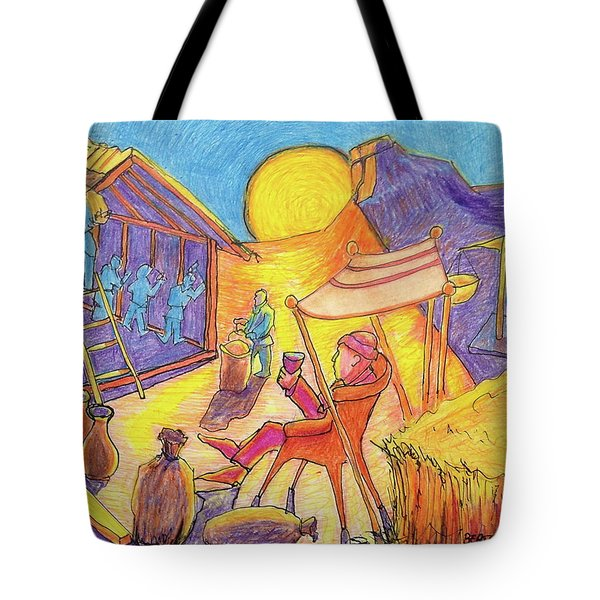 Rich Fool Parable Painting By Bertram Poole Tote Bag by Thomas Bertram POOLE