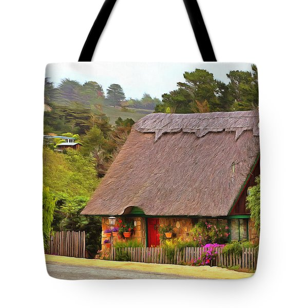 Tote Bag featuring the painting Rich History Of Carmel By The Sea by Viktor Savchenko