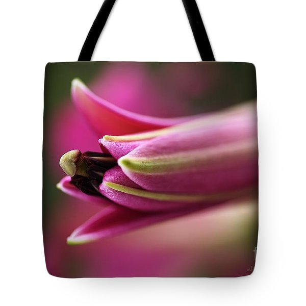 Rich Pink Lily Bud Tote Bag