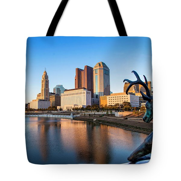 Rich Street Bridge Columbus Tote Bag