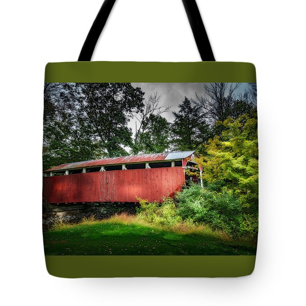 Tote Bag featuring the photograph Richards Covered Bridge by Marvin Spates