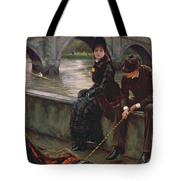 Richmond Bridge Tote Bag by James Jacques Joseph Tissot