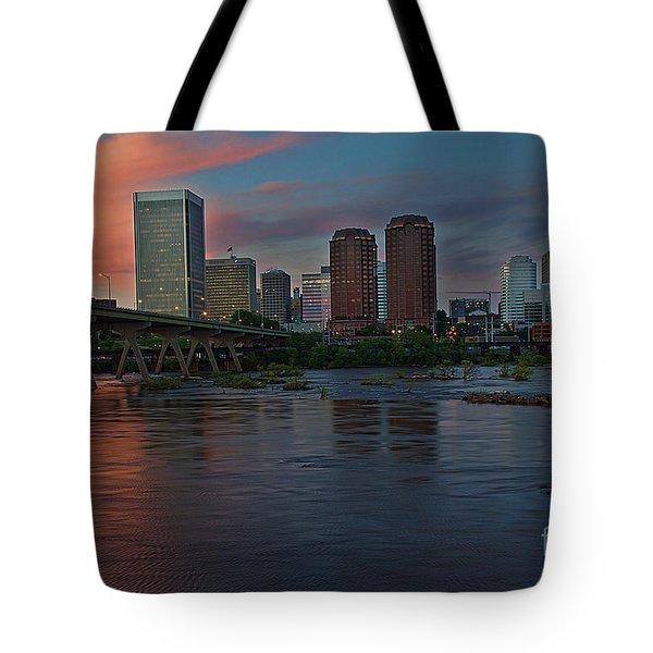 Richmond Dusk Skyline Tote Bag