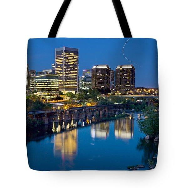 Richmond Skyline Helo Trail Tote Bag