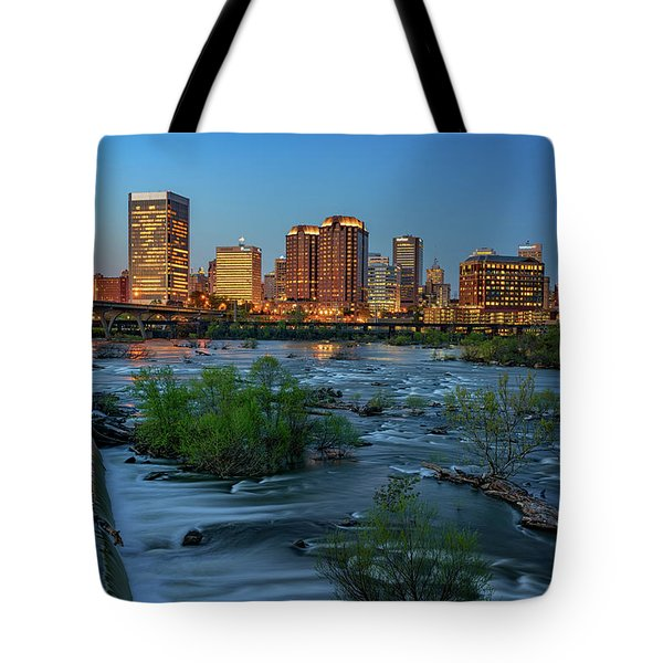 Tote Bag featuring the photograph Richmond Twilight by Rick Berk