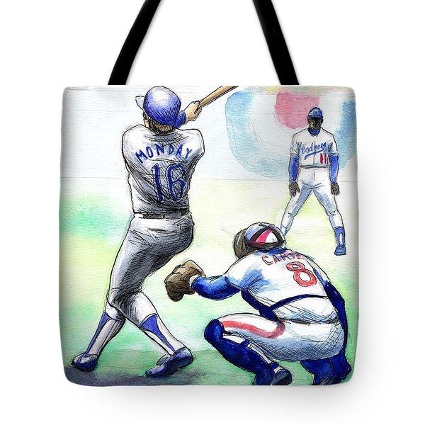 Rick Monday Tote Bag by Mel Thompson