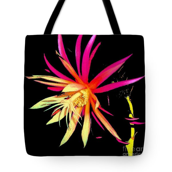 Rick Rack Fern In Black Tote Bag